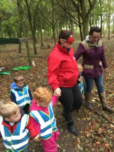 forest schools sessions at Children's House Nursery & Pre-school in Southwell, Nottinghamshire