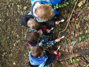 Forest School sessions at Children's House Nursery & Pre-school in Southwell Nottinghamshire