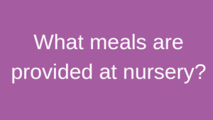 What meals are provided at nursery childrens house nursery southwell