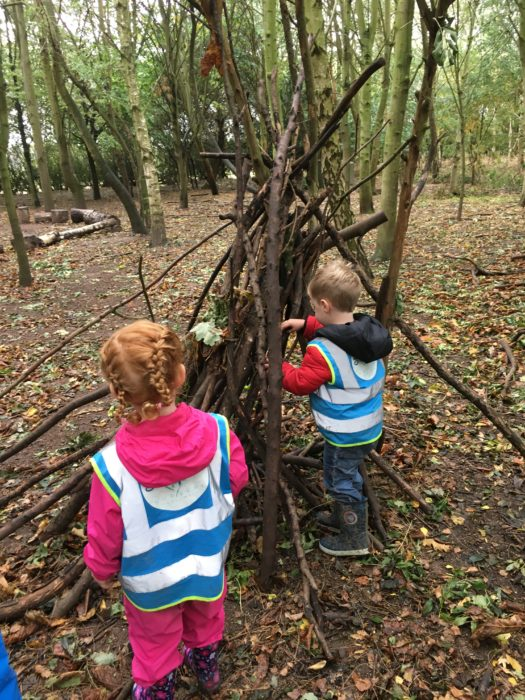 Forest school sessions at Childrens House Nursery & Pre-school in Southwell Nottinghamshire