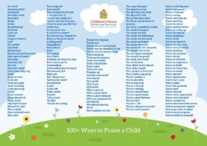 100 ways to praise a child