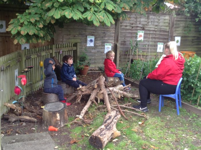 early years reading at Children's House Nursery in Southwell, Nottinghamshire